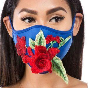 Other - New Blue 3D Applique Face Mask